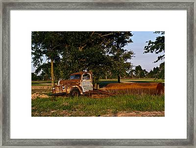 Rusty Truck And Tank Framed Print by Douglas Barnett
