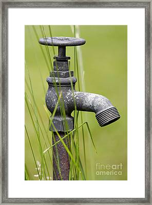 Rusty Water Supply Point Framed Print by Michal Boubin