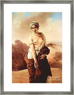 Ruth Framed Print by Pg Reproductions