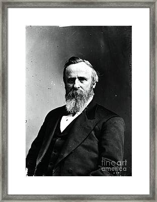 Rutherford B. Hayes, 19th American Framed Print by Photo Researchers