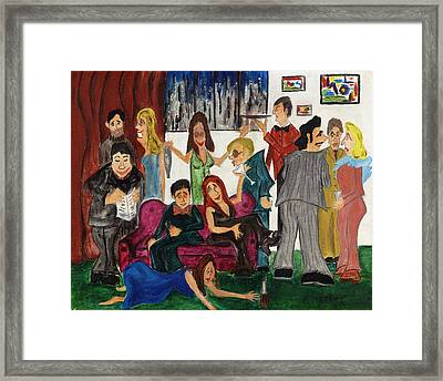 Framed Print featuring the painting Ruthys Party by Stuart B Yaeger
