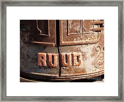 Ruud Water Heater Framed Print