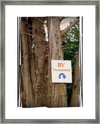 Rv Turnaround Framed Print