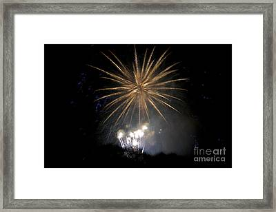 Framed Print featuring the photograph Rvr Fireworks 1 by Mark Dodd