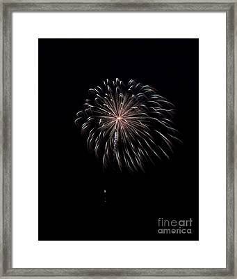 Framed Print featuring the photograph Rvr Fireworks 10 by Mark Dodd