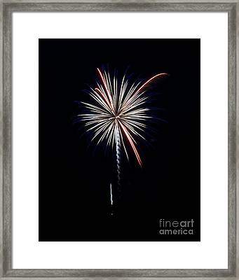 Framed Print featuring the photograph Rvr Fireworks 11 by Mark Dodd