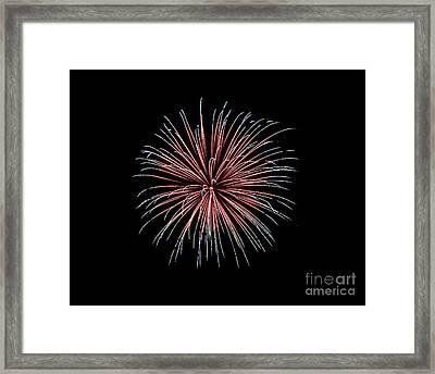Framed Print featuring the photograph Rvr Fireworks 12 by Mark Dodd