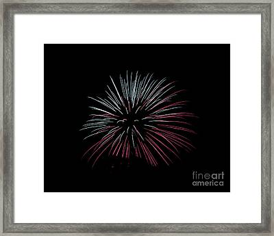 Framed Print featuring the photograph Rvr Fireworks 15 by Mark Dodd