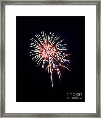 Framed Print featuring the photograph Rvr Fireworks 16 by Mark Dodd