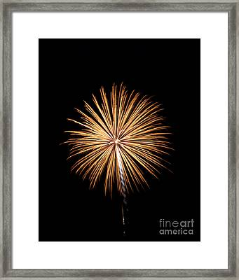 Framed Print featuring the photograph Rvr Fireworks 27 by Mark Dodd