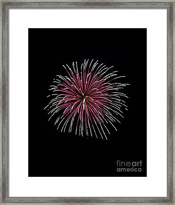 Framed Print featuring the photograph Rvr Fireworks 8 by Mark Dodd