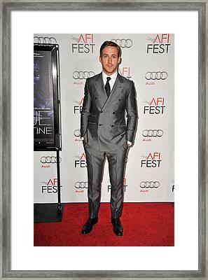 Ryan Gosling At Arrivals For Afi Fest Framed Print by Everett