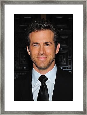 Ryan Reynolds At Arrivals For American Framed Print by Everett