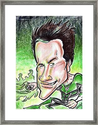 Ryan Reynolds Framed Print by Big Mike Roate