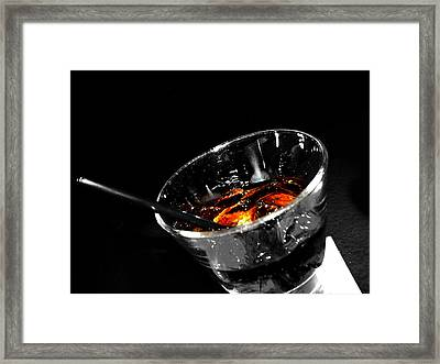 Rye And Coke Please Framed Print by Empty Wall