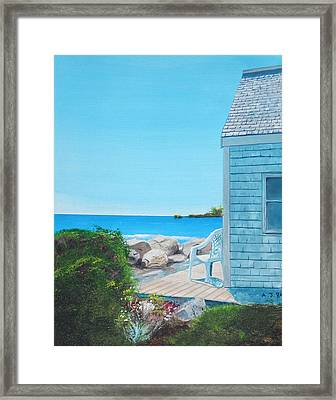 Rye On The Rocks Framed Print by Anthony Ross