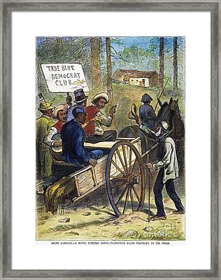 S. Carolina: Elections, 1876 Framed Print