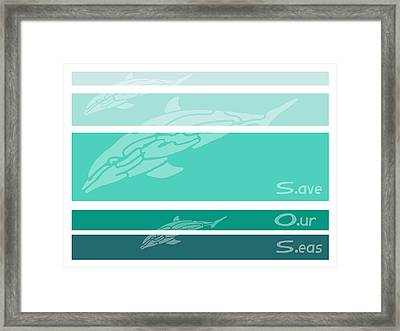 S O S Framed Print by William McDonald