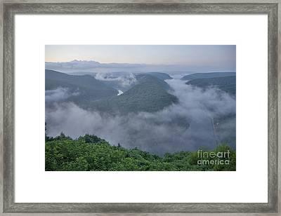 Saar Loop In The Morning Fog Framed Print by Heiko Koehrer-Wagner