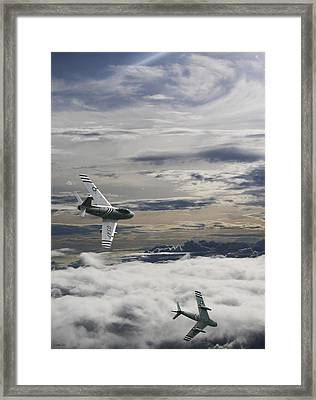 Sabre Dance In Mig Alley Framed Print by Peter Chilelli