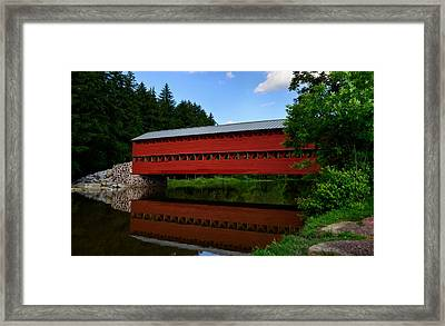 Framed Print featuring the photograph Sachs Bridge Gettysburg Pa by Brian Hughes