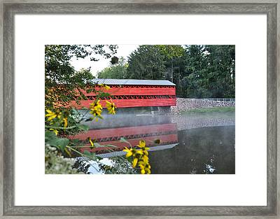 Sachs Covered Bridge At Gettysburg Framed Print by Bill Cannon