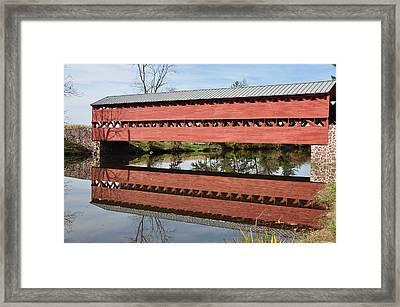 Sachs Covered Bridge Near Gettysburg Framed Print by Bill Cannon