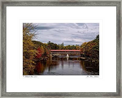 Framed Print featuring the photograph Saco River Autumn by Richard Bean