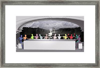 The Last Supper Framed Print by Joaquin Abella