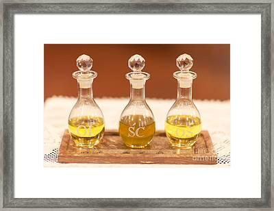 Sacramental Oils Framed Print