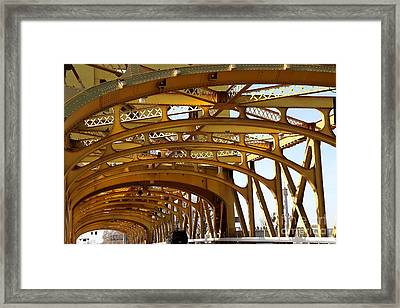 Sacramento California Tower Bridge Crossing The Sacramento Delta River . 7d11567 Framed Print by Wingsdomain Art and Photography