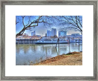 Sacramento River Framed Print by Barry Jones