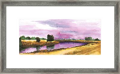 Sacramento River Framed Print by Eunice Olson