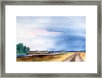 Sacramento River Road Framed Print by Eunice Olson