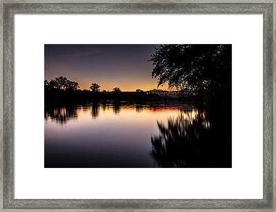 Framed Print featuring the photograph Sacramento River Sunset by Randy Wood