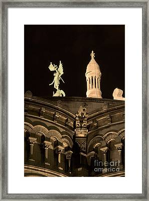 Sacre Coeur By Night Vi Framed Print by Fabrizio Ruggeri
