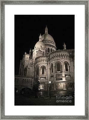 Sacre Coeur By Night Viii Framed Print by Fabrizio Ruggeri