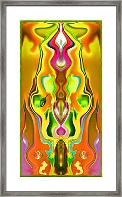Sacred Flower Framed Print by Mathilde Vhargon