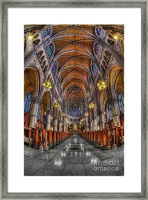 Sacred Heart Basilica Framed Print by Susan Candelario