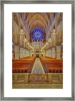 Sacred Heart Cathedral Basilica Framed Print by Susan Candelario