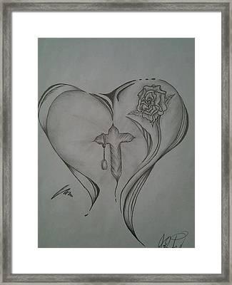 Sacred Heart Framed Print by Jason Rodriguez