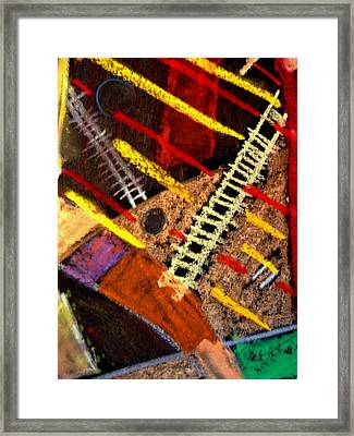 Framed Print featuring the mixed media Sacred Kiva by Clarity Artists