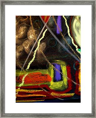 Framed Print featuring the mixed media Sacred Kiva Two by Clarity Artists