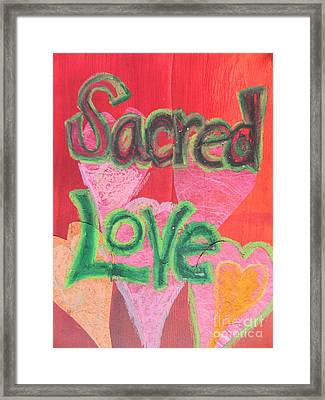 Sacred Love Framed Print