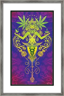 Sacred Smoke Framed Print by Cristina McAllister