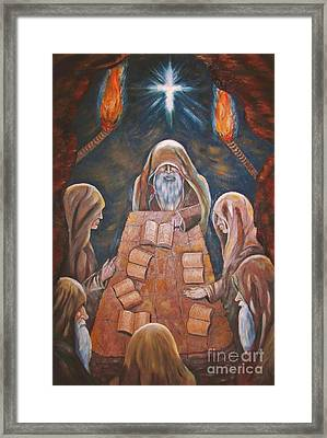 Sacred Tradition Framed Print by Judy Via-Wolff