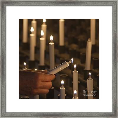 Sacrificial Candles 3 Framed Print