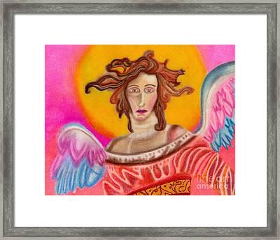 Sad Angel Framed Print by Christine Perry