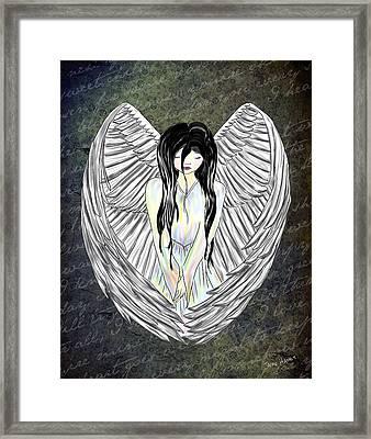 Sad Angel Framed Print