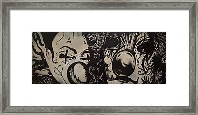 Sad Clowns Framed Print by Travis Burns